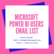 Microsoft Power BI Users Email List