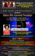 'Open Mic Comedy Tuesdays'