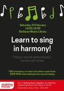 Singing in Harmony: free workshop at Barbican Music Library