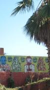 Abandoned lot Street art - Sunset Junction Sunset Blvd. and Sanborn Ave. Silver Lake Los Angeles