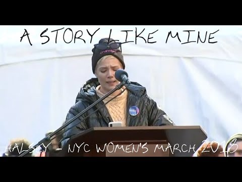 """A Story Like Mine"" // Halsey speaks at the 2018 Women's March in NYC // 20th January '18"