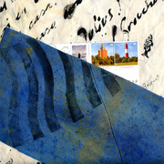 "Mail Art Book - The subject is: ""Blue"""