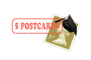 5 POSTCARDS Exhibition - Mailart memories of our school days