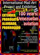 """One invitation to participate at International Mail Art Project and Exhibition  """"100 years: Venezuelan aviation"""". Deadline: October 05, 2012"""