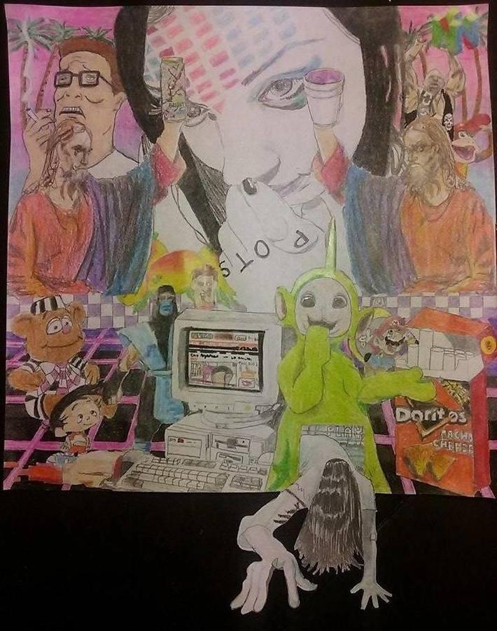 Vaporwave drawing