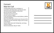 Connect Mail Art Open Call for KFest 2016