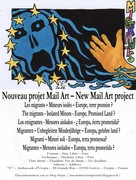 Nouveau projet Mail Art – New Mail Art project :   Les migrants – The migrants