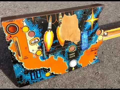 Arcadia 3  pinball board  swamp witch guitar