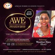 Wambui  Njau- AWE AWARDS 2019 host flyer