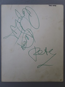 the who autographs 1965 Keith Moon, Pete Townshend and Roger Daltrey