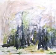 7. SCHILFROHR IN DER POLDER 1,100 x 100 cm. Acryl auf Canvas