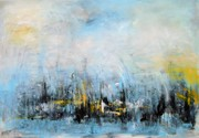 8. SCHILFROHR IN DER POLDER 2, 70 x 100 cm. Acryl auf Canvas
