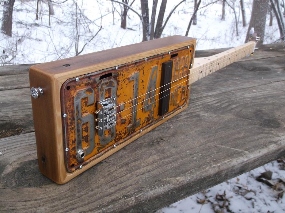 1933 Nebraska License Plate Guitar