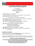 Ontario Hay and Forage Cooperative AGM