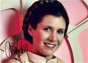 Carrie Fisher Autograph 12x8 1