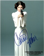 Carrie Fisher Autograph 8x10 1
