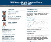 SBMCH and AIRP MSK Categorical Course BALRAD 2017