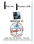 Ken Karsh performing at Little E's Jazz Club