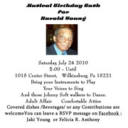 Musical Birthday Bash for Mr. Harold Young