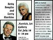 Betty Douglas & Terry Hawkins Jazz group at the Merrick Art Gallery