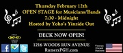 Yinzide Out open stage Thursday @ Rumerz w/Larry Siefers