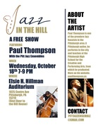 JAZZ IN THE HILL featuring Bassist Paul Thompson with the Pitt Jazz Ensemble