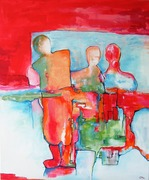 13. 13  THANK YOU FOR BEING HERE 1 `  120 x 100 cm.