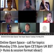 SOLWorld Online Open Space workshops