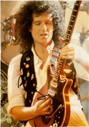 Brian May Autograph QUEEN 12x8 1