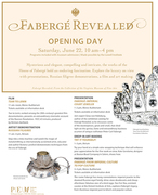 Russian Filigree demo with Victoria Lansford at Faberge Revealed exhibit, opening day