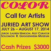 National Juried Art Show in NYC: Color