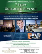 "Sales Techniques  ""7 Steps To Unlimited Revenue"" Seminar by Jordan Wirsz"