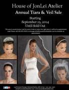 House of JonLei Atelier's Annual Tiara & Veil Sale