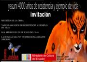 MUESTRA DE LA OBRA YASUNI 4000 AÑOS DE RESITENCIA Y EJEMPLO DE VIDA