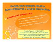 Cursos Intensivos de Danza/Movimiento Terapia