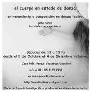 El cuerpo en estado de danza. Seminario Octubre-Nov 2010. Buenos Aires