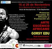 1RAS JORNADAS DE ARTE ESCÉNICO AFRICANO-GORSY EDÚ EN ARGENTINA