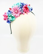 Pink, blue and mint EVA foam flower crown