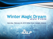 'Winter Magic' Dream Auction in Support of AALP