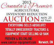 2015 Canada's Premier Agricultural Inventory Reduction Auction