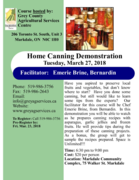 Home Canning Demonstration