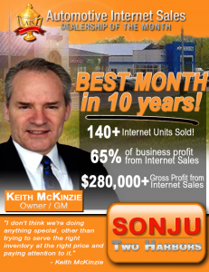 Sonju Tow Harbors had their best year in 10 years. Learn how their internet department accounted for 2/3rd's of their sales this month.