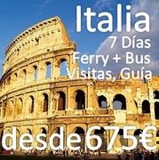 Mini Crucero y Circuito por Italia