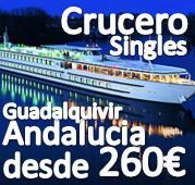 CRUCERO FLUVIAL CON SINGLES POR EL GUADALQUIVIR en el PUENTE de LA INMACULADA ::  4 dias en PENSION COMPLETA desde 260€