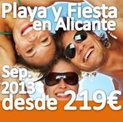 PLAYA Y FIESTA en ALFAZ DEL PI (ALICANTE) SEPTIEMBRE 2013
