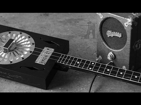 Three String Reso-phonic Cigar Box Guitar