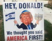 Donld Trump Israel First