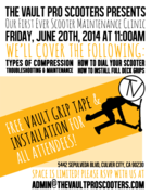 The Vault's First Ever Pro Scooter Maintenance Clinic