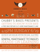 Chubby's Bike Repair & At-Home Maintenance Clinic for ADULTS