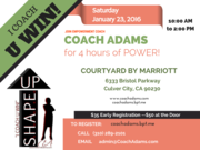 4 Hours of Power with Master Motivator / Empowerment Coach,  Coach Adams